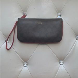 Coach wristlet basically new!